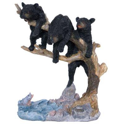 3 Bears on a Tree Looking at Fish Figurine 95669