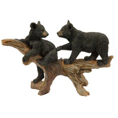 Bear Cub on Tree Log Figurine 93518