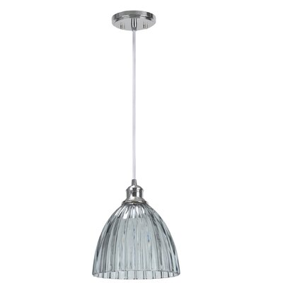 1-Light Mini Pendant Shade Color: Smoke