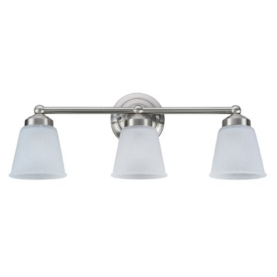 3-Light Vanity Light Finish: Satin Nickel