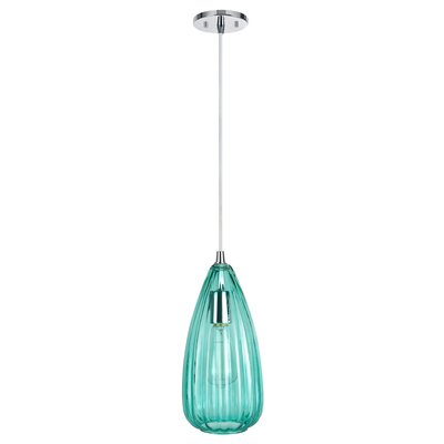 1-Light Mini Pendant Shade Color: Surf Green