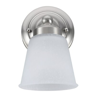 1-Light Bath Sconce Finish: Satin Nickel