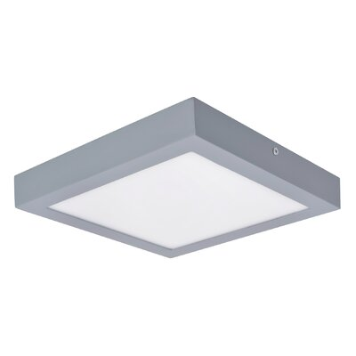 Flush Mount Base Color: Sliver