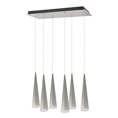 6-Light Cascade Pendant Shade Color: Brushed Nickel