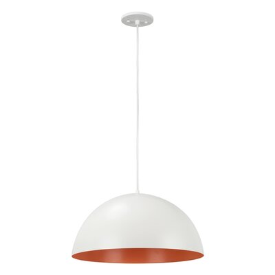 1-Light Mini Pendant Finish: Matte White