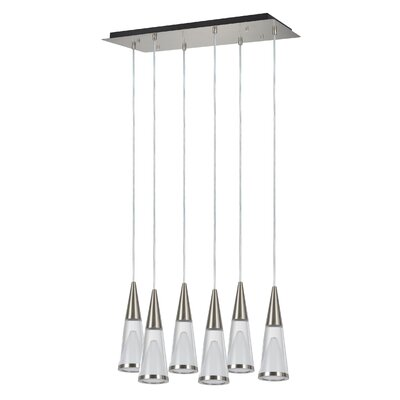 6-Light LED Cascade Pendant