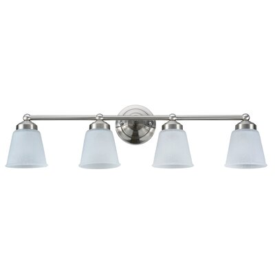 4-Light Vanity Light Finish: Satin Nickel