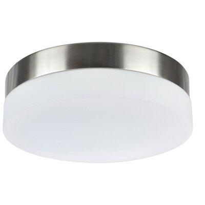 LED Flush Mount Base Color: Satin Nickel