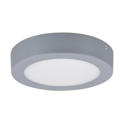 Flush Mount Base Color: Silver