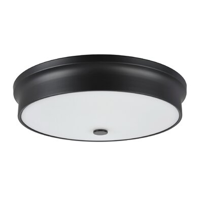 LED Flush Mount Base Color: Black