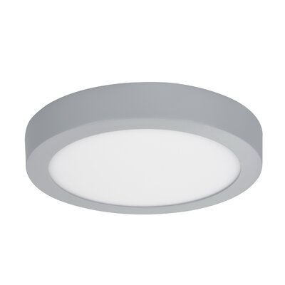 LED Flush Mount Base Finish: Sliver