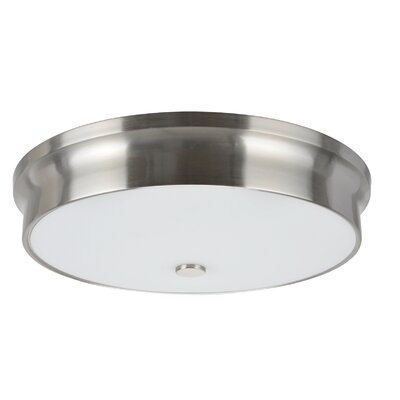 LED Flush Mount Base Color: Satin Nickel