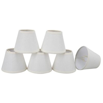 5 Linen Empire Candelabra Shade Color: Creme