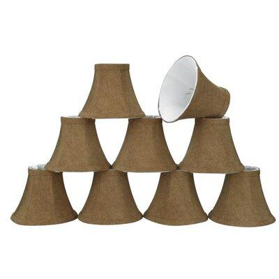6 Linen Bell Candelabra Shade