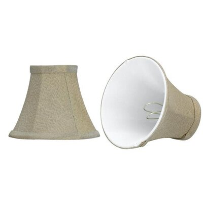 6 Fabric Bell Candelabra Shade Color: Light Golden