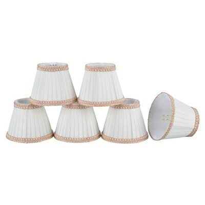 5 Fabric Empire Candelabra Shade Color: Creme