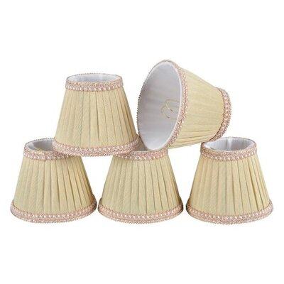 5 Fabric Empire Candelabra Shade Color: Ivory