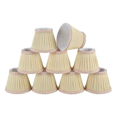 5 Fabric Empire Candelabra Shade Color: Ivory