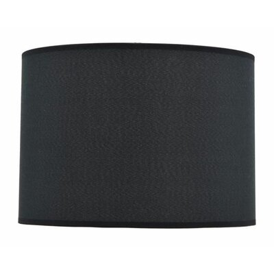 14 Fabric Drum Lamp Shade Color: Black