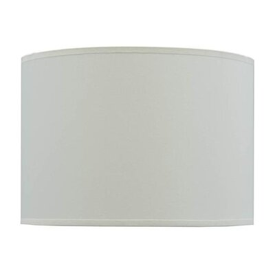 14 Fabric Drum Lamp Shade Color: Off White