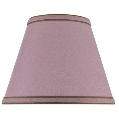 9 Linen Empire Lamp Shade Color: Reddish Purple