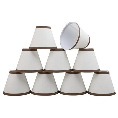 6 Linen Empire Candelabra Shade Color: Brown