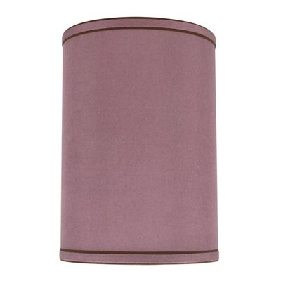 8 Linen Drum Lamp Shade Color: Reddish Purple