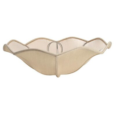 13 Linen Bowl Lamp Shade Color: Light Yellow
