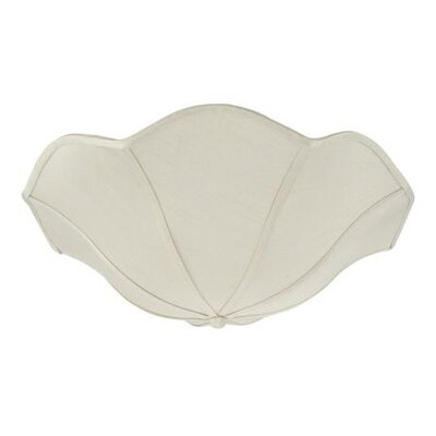 13 Linen Bowl Lamp Shade Color: Apricot