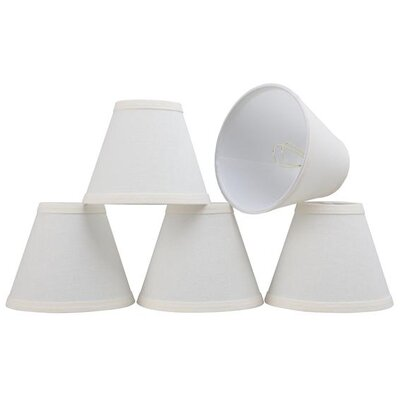 6 Linen Empire Candelabra Shade Color: White