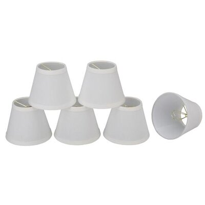 5 Linen Empire Candelabra Shade Color: White