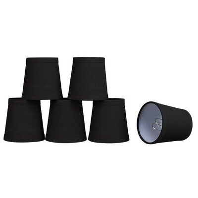 4 Cotton Empire Candelabra Shade Color: Black