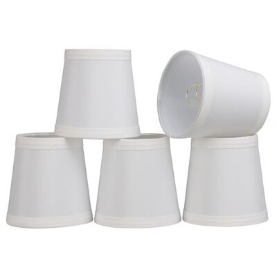 4 Cotton Empire Candelabra Shade Color: Off White