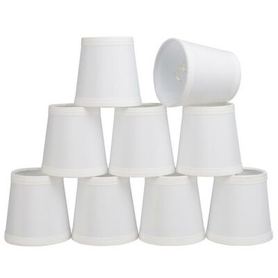 4 Cotton Empire Candelabra Shade Color: Creme