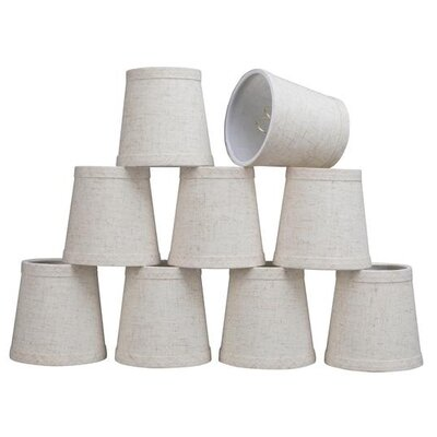 4 Linen Empire Candelabra Shade