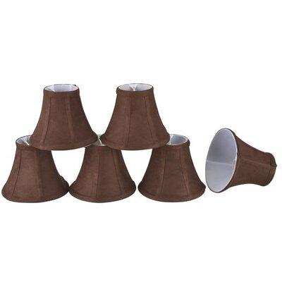 6 Suede Bell Candelabra Shade