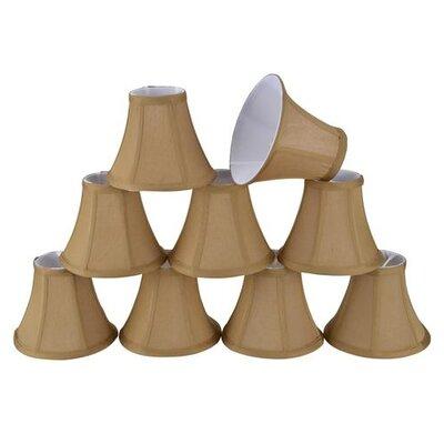 6 Silk Bell Candelabra Shade Color: Light Brown