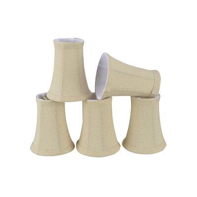 4 Linen Bell Candelabra Shade