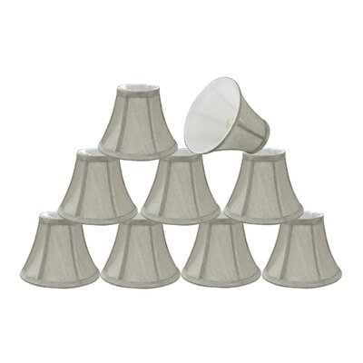 6 Silk Bell Candelabra Shade Color: Grey