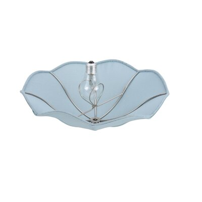 13 Linen Bowl Lamp Shade Color: Light Blue