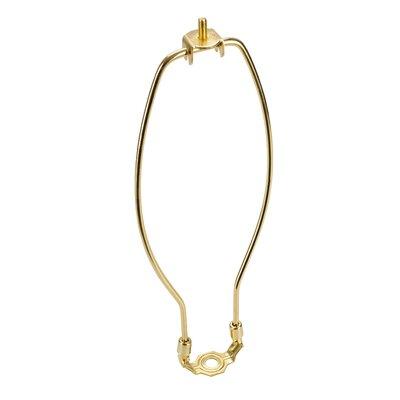 Lamp Harp Finish: Polished Brass, Size: 12 H x 5.5 W x 0.8 D
