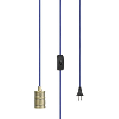 Otelia 1-Light Mini Pendant Base Finish: Antique Brass/Blue