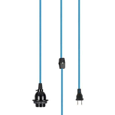 Elizebeth 1-Light Mini Pendant Base Finish: Black/Blue
