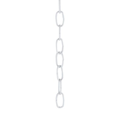 Decorative Light Fixture Chain Finish: White