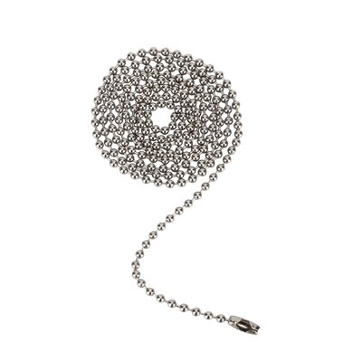 Beaded Pull Chain Color: Brushed Pewter