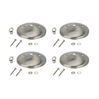 Modern Light Fixture Canopy Kit Finish: Brushed Nickel