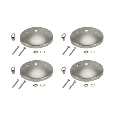 Modern Light Fixture Canopy Kit Color: Brushed Pewter