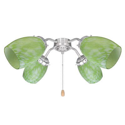 3.6 Glass Oval Ceiling Fan Fitter Shade