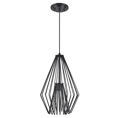 Purdue Adjustable 1-Light Hanging Mini Pendant Finish: Black