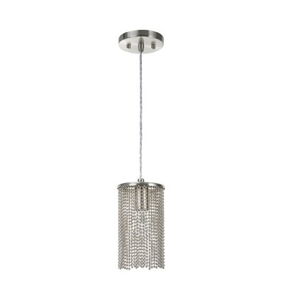Meng Adjustable 1-Light Hanging Mini Pendant
